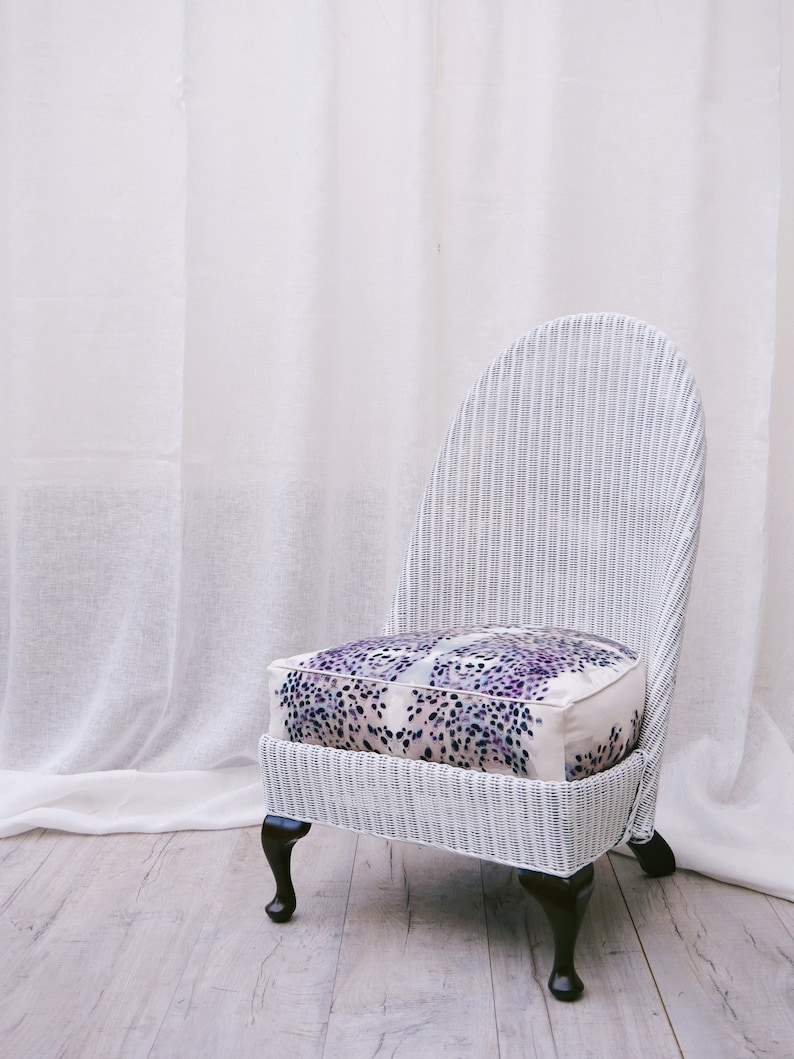 The Anita Chair. Lloyd Loom style white cane. Sustainable image 1