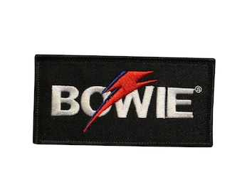 David Bowie Face Easy Iron On Patch Sew Rebel Rebel Aladdin Sane gift present
