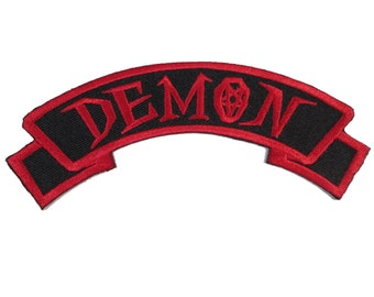 Skelli Hand Devil Patch Embroidered Iron On Patch Goth Zombie Kreepy 036-V