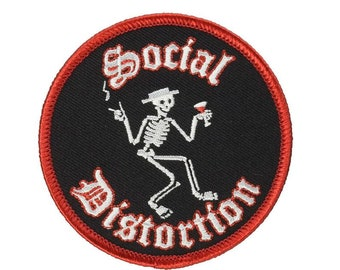 Social Distortion Hot Rod Built To Last Embroidered Iron On Patch