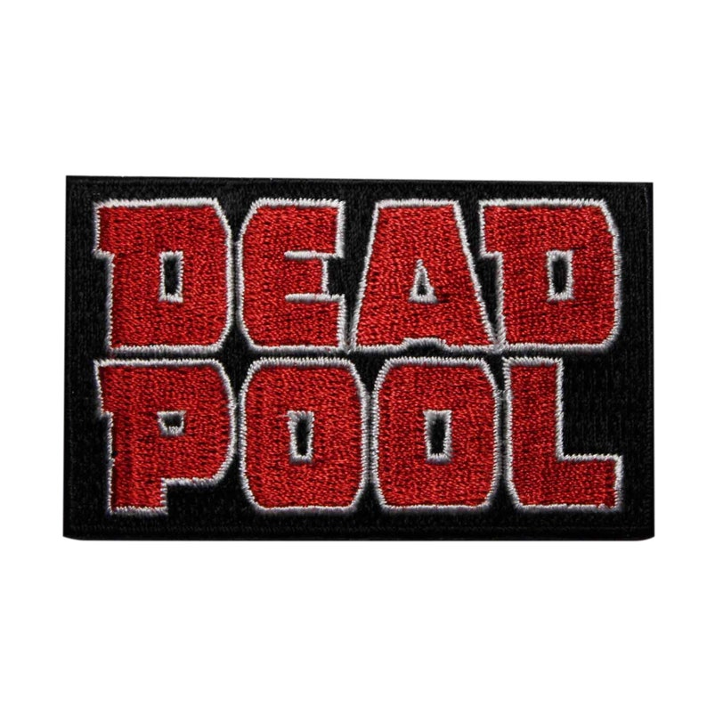 Deadpool Embroidered Iron On Patch Marvel Comics    Officially Licensed