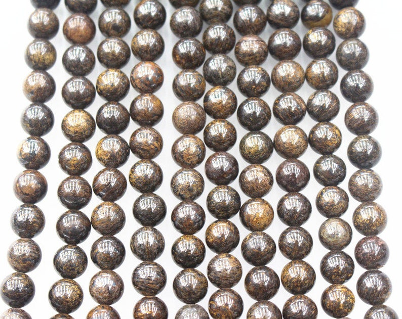 10MM Natural AA Bronzite Beads beads,15 inches per strand,Gemstone Smooth Round Loose beads wholesale supply,Diy beads