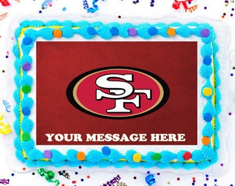 San Francisco 49ers Cake Topper Edible Image Personalized