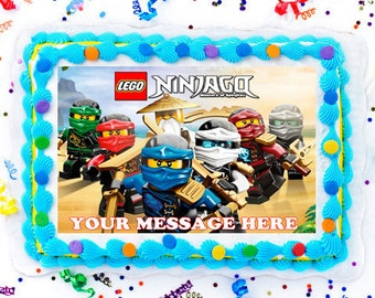 LEGO Ninjago Cake Topper Edible Image Personalized