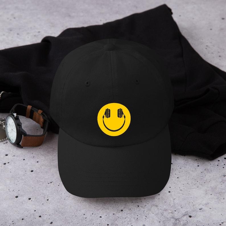 Happy Headphones Dad Hat,