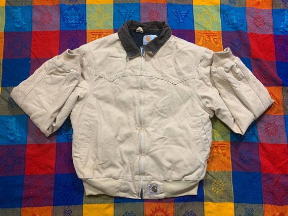Vintage 90s 1990s Carhartt lined zip up bomber jac