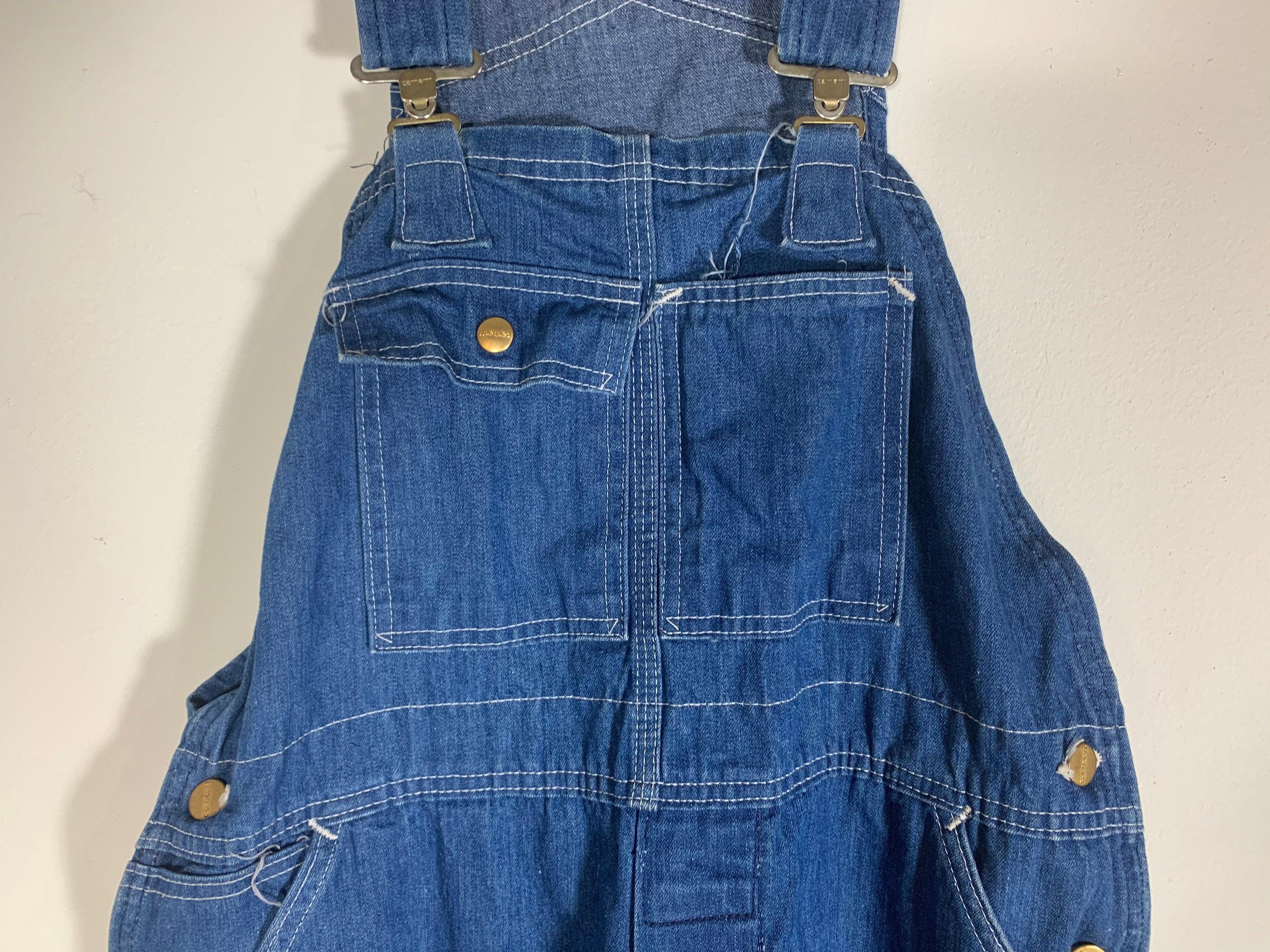 Vintage Overalls & Jumpsuits Vintage 80S 90S Carhartt Denim Jean Coveralls Overalls Broken in Distressed Made Usa 38x30 $0.00 AT vintagedancer.com
