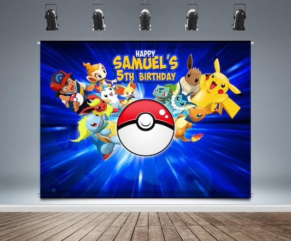 Pokemon Backdrop Pokemon Backdrop Birthday Pokemon Banner Digital File Personalize Printable