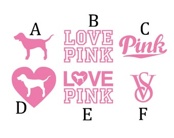 6c2b2fe64 Made to Order VS Victoria s Secret PINK Vinyl decal Sticker