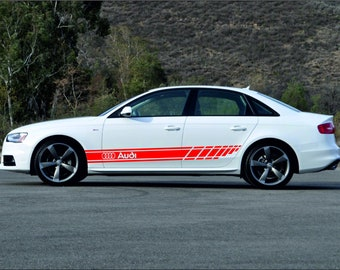 x6 Premium Audi A3 RS3 Logo Badge Hi Temp Brake Caliper Stickers Decals
