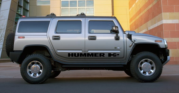 HUMMER H2-4x side body decal vinyl graphics racing sticker hight quality
