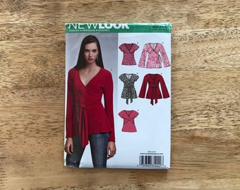 New Look pattern 6729 size 6-16 ladies wrap top