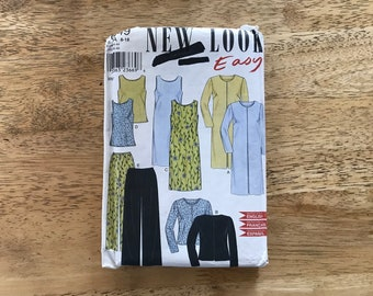 New Look Easy pattern 6949 size 8-18 ladies shift dress, top and pants.