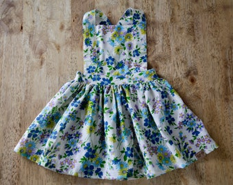Pinafore Dress - one of a kind toddlers vintage cotton floral print dress