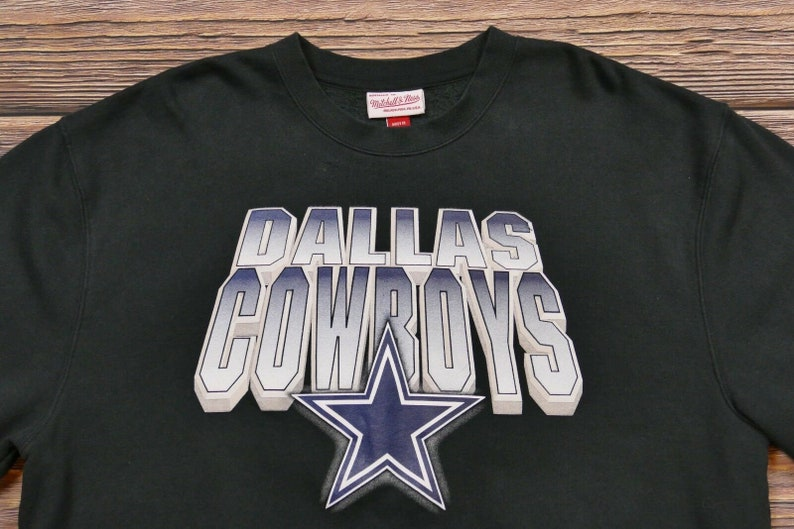 quality design da008 5eaed Vintage Mitchell And Ness Dallas Cowboys Sweatshirt Black XXXXL 4XL
