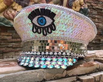 e0db70b7339 Third Eye Burning Man Captain Hat Festival Hat