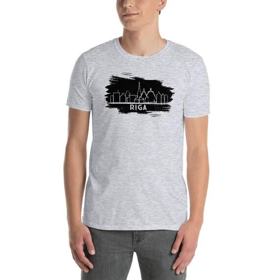 Riga Lettonie T unisexe Shirt manches courtes T-Shirt unisexe T b14587