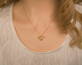 Gold Queen Bee Necklace, Small Bee Size, 18K Gold Filled, Save The Bees, Honey Bee Jewelry, Gift For Her, Birthday Gift