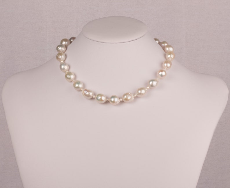 Baroque And Mini Freshwater Pearl Necklace Pearl Necklace image 0