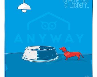 Ladder -  dog print