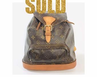 1d7dad3ae832 VINTAGE Authentic Louis Vuitton Monogram Montsouris MM Backpack