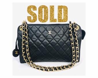 VINTAGE CHANEL CC Logos Quilted Chain Flap Shoulder Bag 707bd70880849