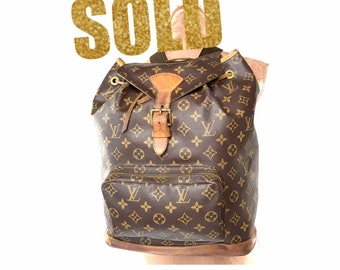 8b03cfb9a128 VINTAGE Louis Vuitton monogram canvas backpack restored