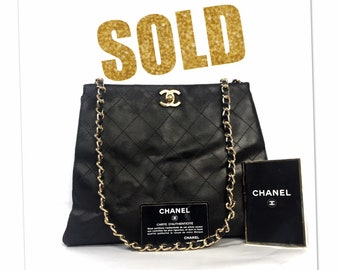 6af2b070f43d CHANEL Leather Chain Matelasse Shoulder TOTE Crossbody