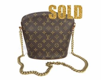 Vintage Louis Vuitton Drouot Monogram Canvas Cross Body Bag 731ebbeafd0b1