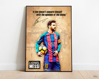 3fdb347182e Lionel Messi Print, Barcelona Lionel Messi Quotes Poster, Home Decor, Football  Poster, FC Barcelona Print, Soccer Poster, Instant Download