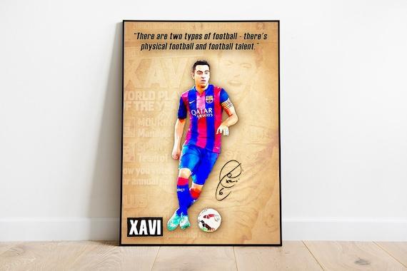 xavi print barcelona xavi quotes poster football art wall