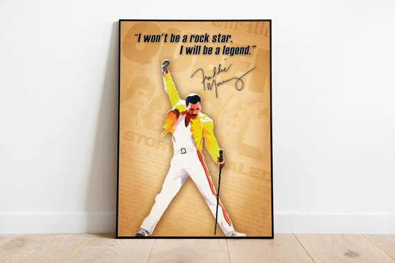 Freddie Mercury I Won/'t Be A Rockstar I Will Be A Legend Cotton Quilt 3 Sizes