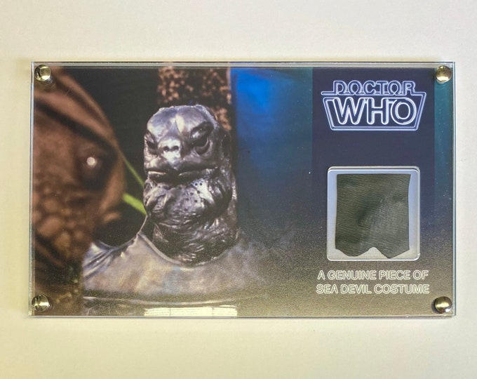 Large Display - Doctor Who Sea Devil Screen Used Costume Display
