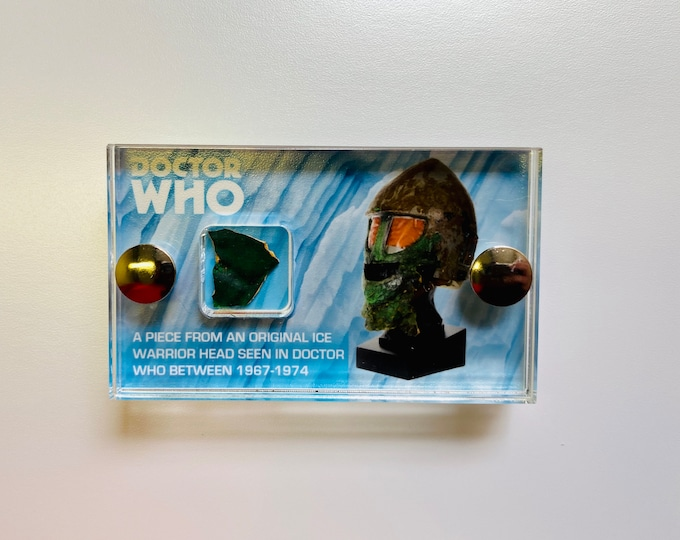 V3 Mini Display - Doctor Who - Ice Warrior Piece from Screen Used Head