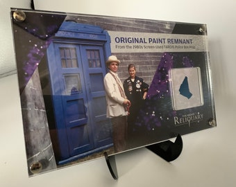 Large Display - Doctor Who - Tardis Paint Remnant from a Tom Yardley Jones Tardis