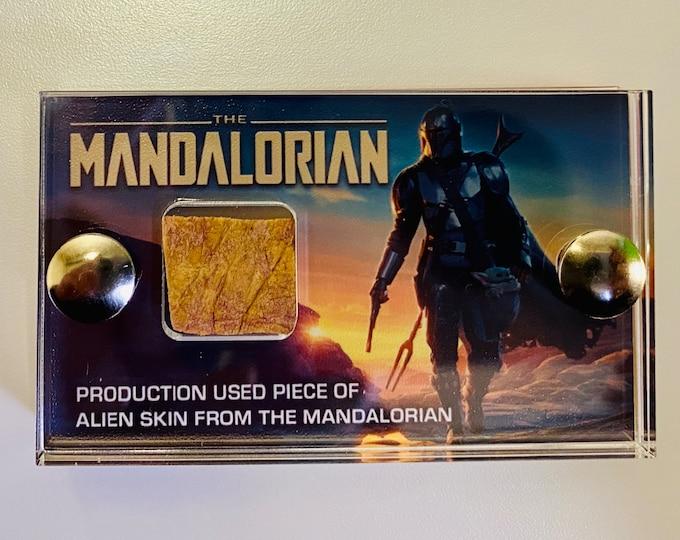 V1 Mini Display - Production Used Mandalorian Alien Skin