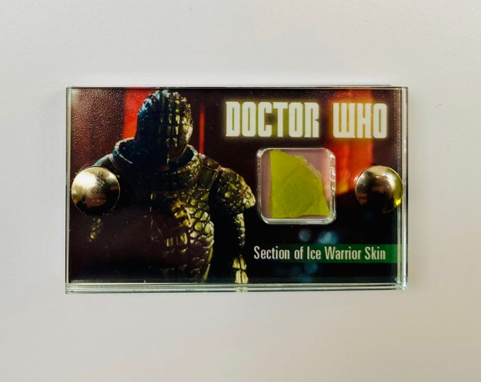 Mini Display Doctor Who -  Section of Ice Warrior Skin