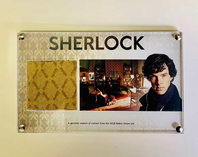 Sherlock - Genuine Swatch of Curtain from 221B Baker Street