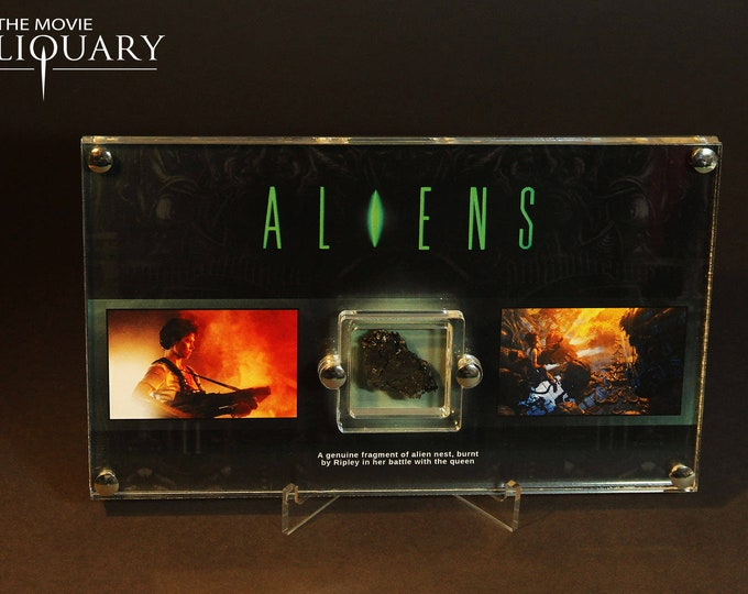 Aliens - charred alien nest display
