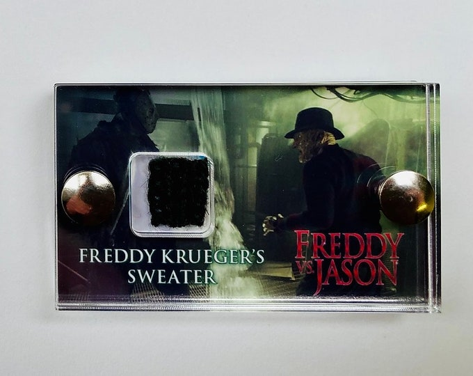 Green Mini Display Freddie Vs Jason - Freddie Krueger Sweater Swatch Display
