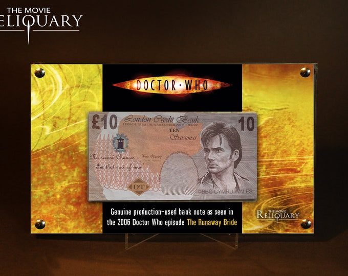 Dr Doctor Who - Production Made 10 Pound Bank Note / Money from Runaway Bride