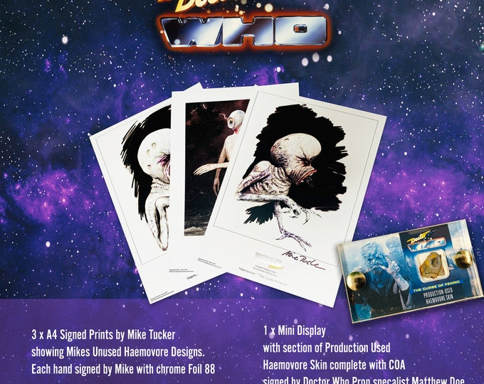 Mini Display & Signed Prints - Doctor Who - Haemovore Skin from The Curse of Fenric
