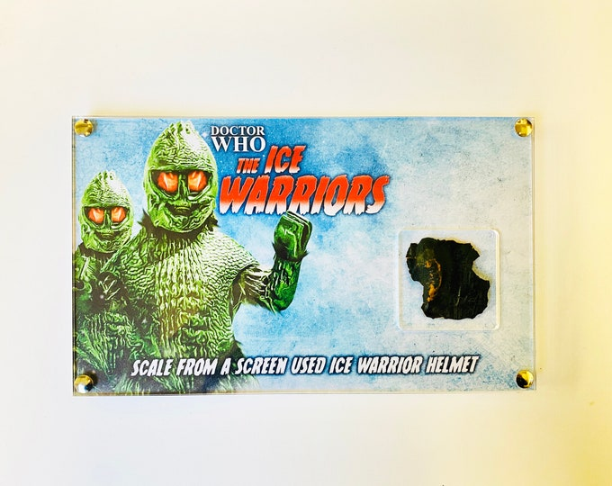 Dr Doctor Who - Screen Used Ice Warrior Scale from Head