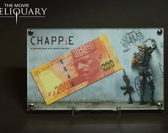 Chappie - screen used bank note display