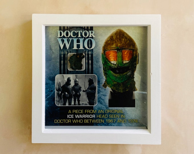 9x9 Shadow Box Doctor Who - Screen Used Ice Warrior Scale from Head