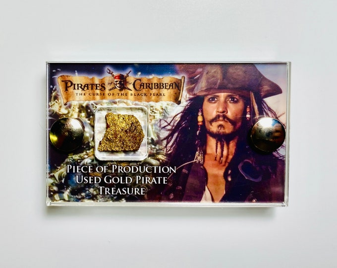 Mini Display - Pirates of the Caribbean Production Used Gold Pirates Treasure