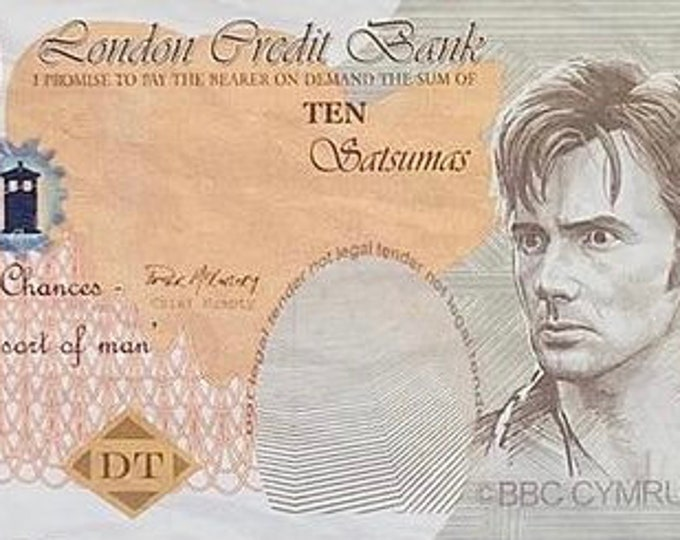 10 Pound Loose Doctor Who - Production Made 10 Pound Bank Note / Money from Runaway Bride