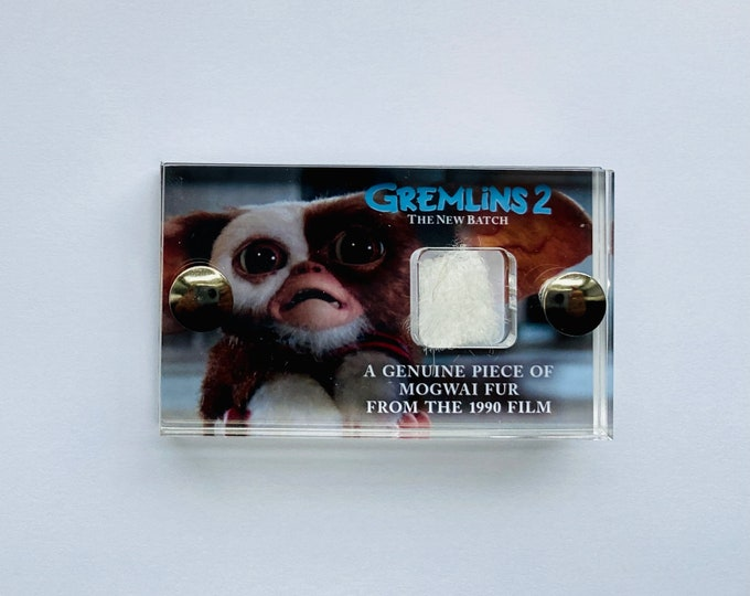 Mini Display - White Gremlins 2 Production Made Mogwai Fur