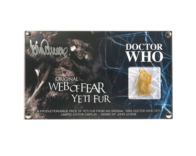 Large Display Web of Fear Yeti Fur - Signed by John Levene