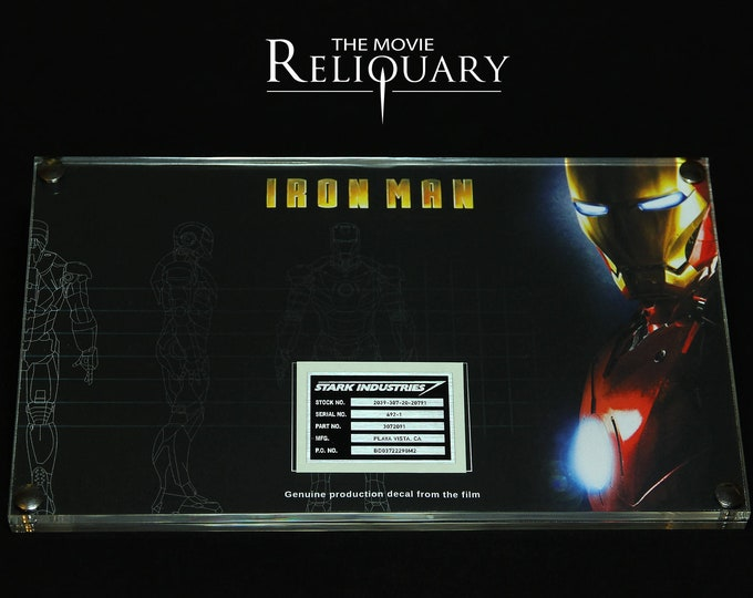 Iron Man - framed production foil decal
